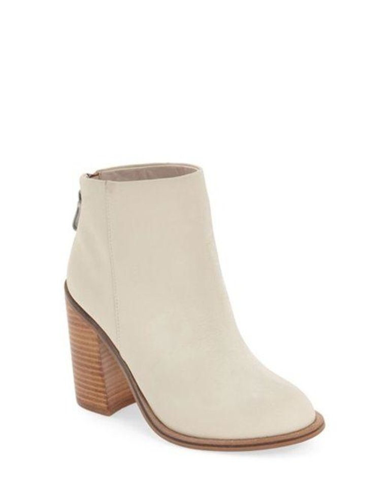 "Photo - Kelsi Dagger Brooklyn ""Huron"" white bootie, available at Betsy King, A Shoe Boutique in the heart of the Paseo Shopping District. [Photo Provided]"