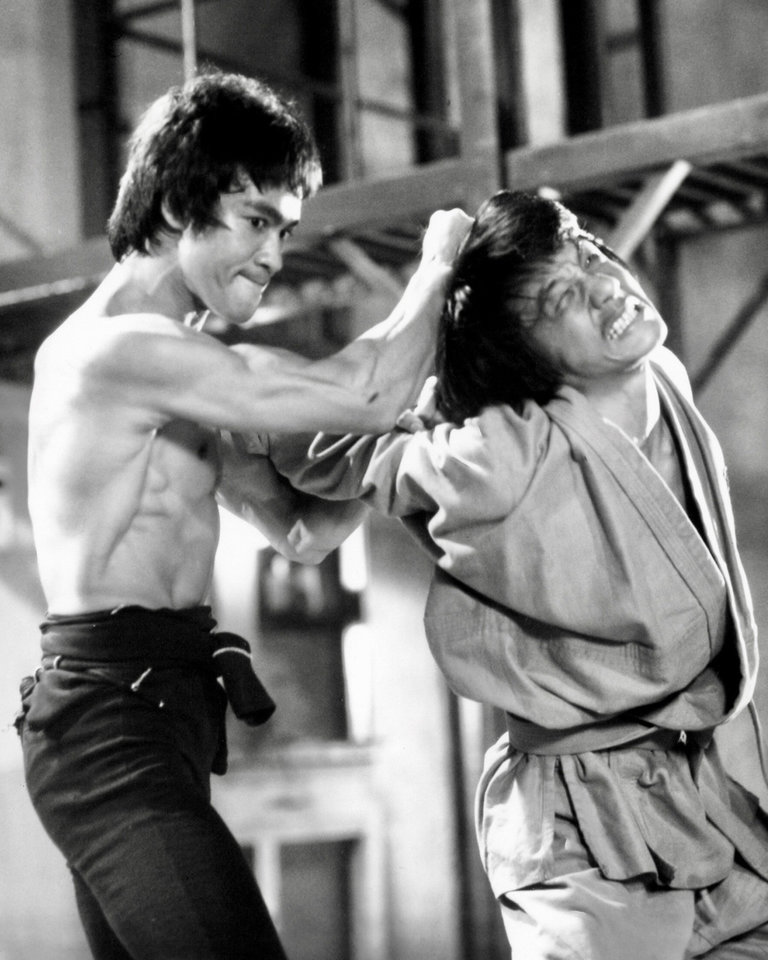 Photo -  Bruce Lee, left, in