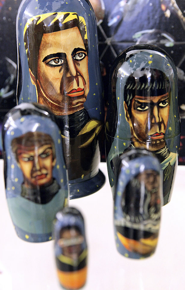 "Photo - Nesting dolls feature ""Star Trek"" characters."