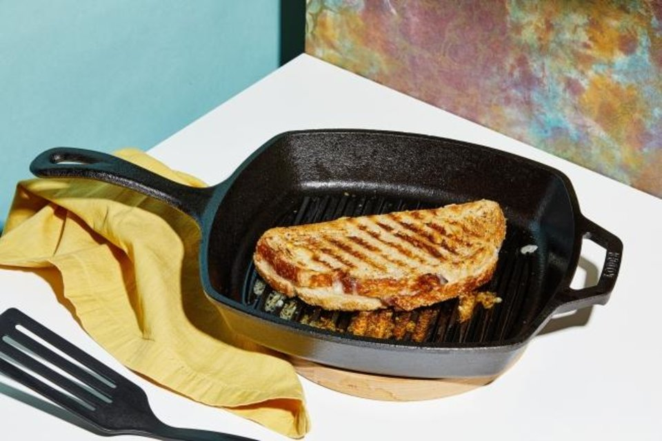Photo -  Lodge Square Grill Pan. [Tom McCorkle/for The Washington Post]