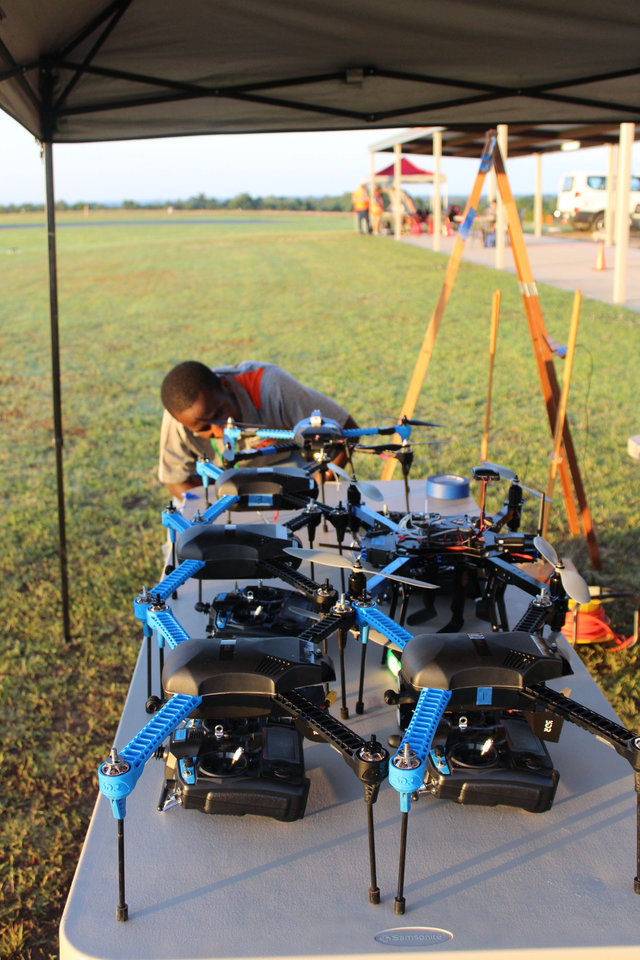 Photo - Research being performed at OSU hopes to improve the metrics for tornado prediction through the use of drones. Photo courtesy of Dr. Jamey Jacob.
