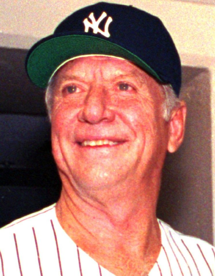 Photo - Mickey Mantle, shown in this 1992 photo wearing a New York Yankees cap. (AP Photo/Susan Ragan)