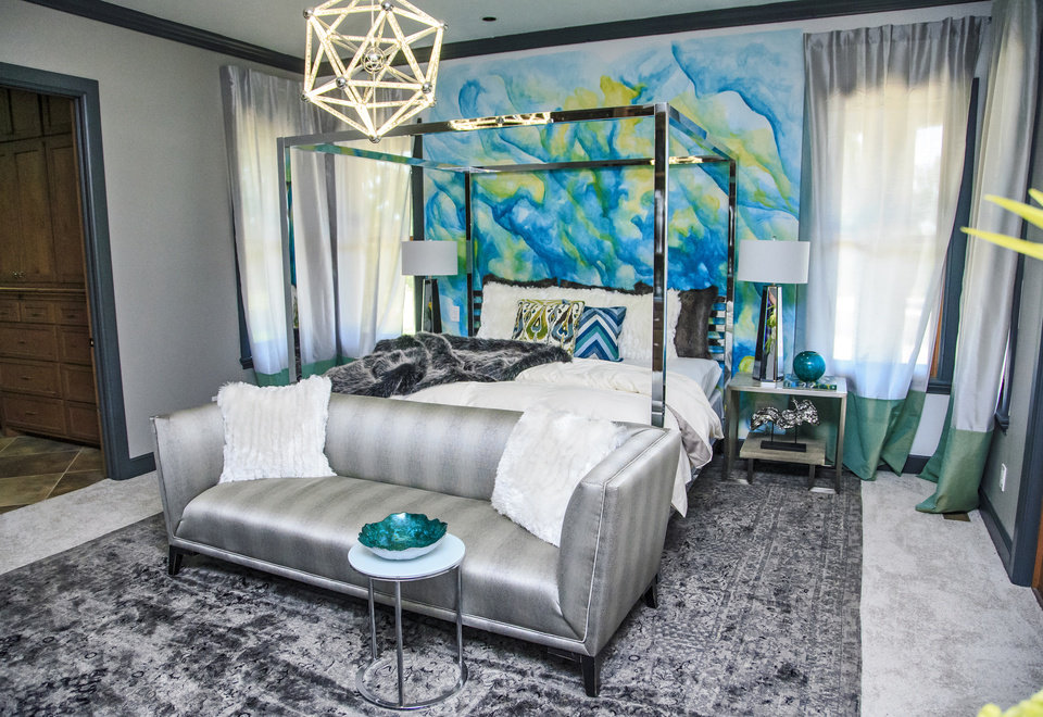 The Master Bedroom Designed By DeLisa Oakes, Of DeLisa Oakes Design LLC, At  The Oklahoma Designer Show House. [PHOTO BY CHRIS LANDSEBERGER, THE  OKLAHOMAN] ...