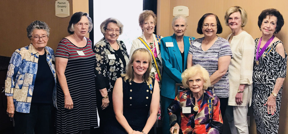 Photo - Frankia Storey, Pat Patton, Deanna Ames, Diane King, Quembe Walkingstick, Lauri Warmack, Gail Barbre, Barbara McMullin, standing; Kristen Ferate, Carma Jenkins, seated. PHOTO PROVIDED