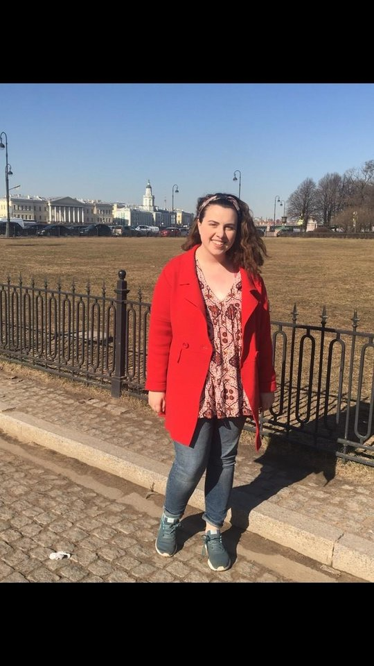 Photo -  University of Oklahoma student Elizabeth Penn is currently studying Russian in St. Petersburg Russia. [Photo Provided]
