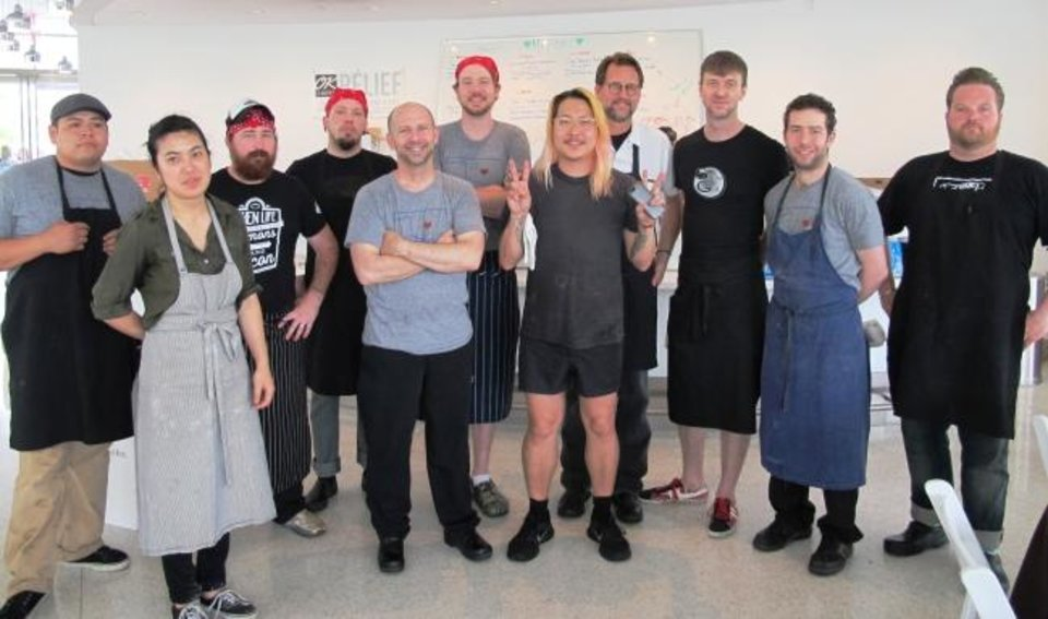 Photo -  Chefs from around the city joined Danny Bowien for OK Chefs Relief in 2013. [Oklahoman Archive photo]
