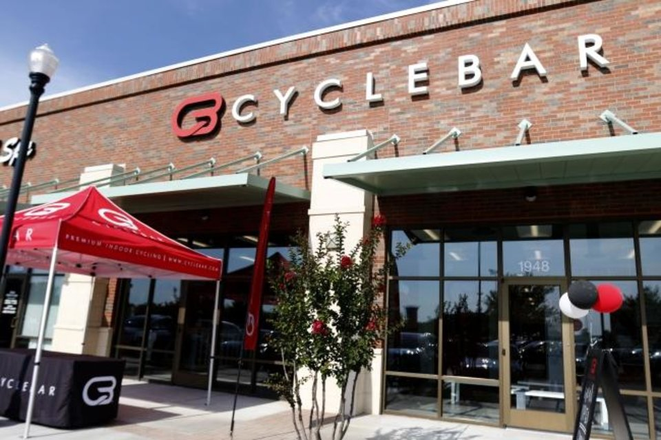 Photo -  The new CycleBar studio in Norman. [PAXSON HAWS/THE OKLAHOMAN]