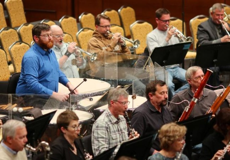 Photo -  The Oklahoma City Philharmonic rehearses Tuesday, October 29, 2019. [Doug Hoke/The Oklahoman]