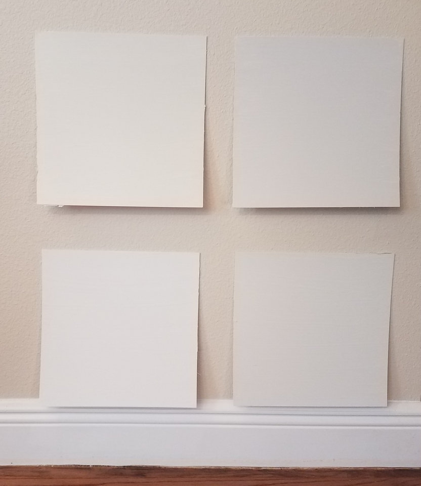 With So Many Shades Of White The Best Way To Choose Is Paint Sample Boards And See A Larger Volume Color In Your Light Photo Provided By Marni