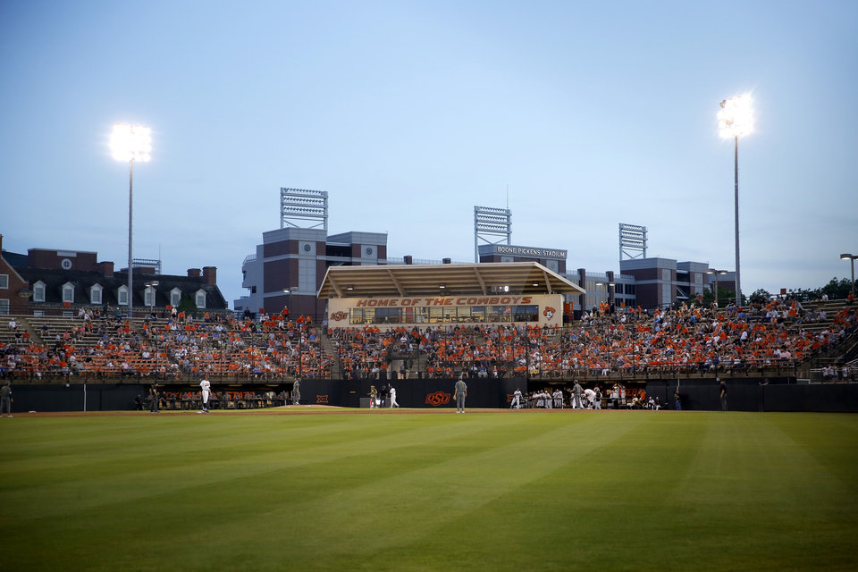 Photo - Oklahoma State plays baseball against Baylor during the final scheduled series at Allie P. Reynolds Stadium in Stillwater, Okla., Thursday, May 16, 2019.  [Bryan Terry/The Oklahoman]