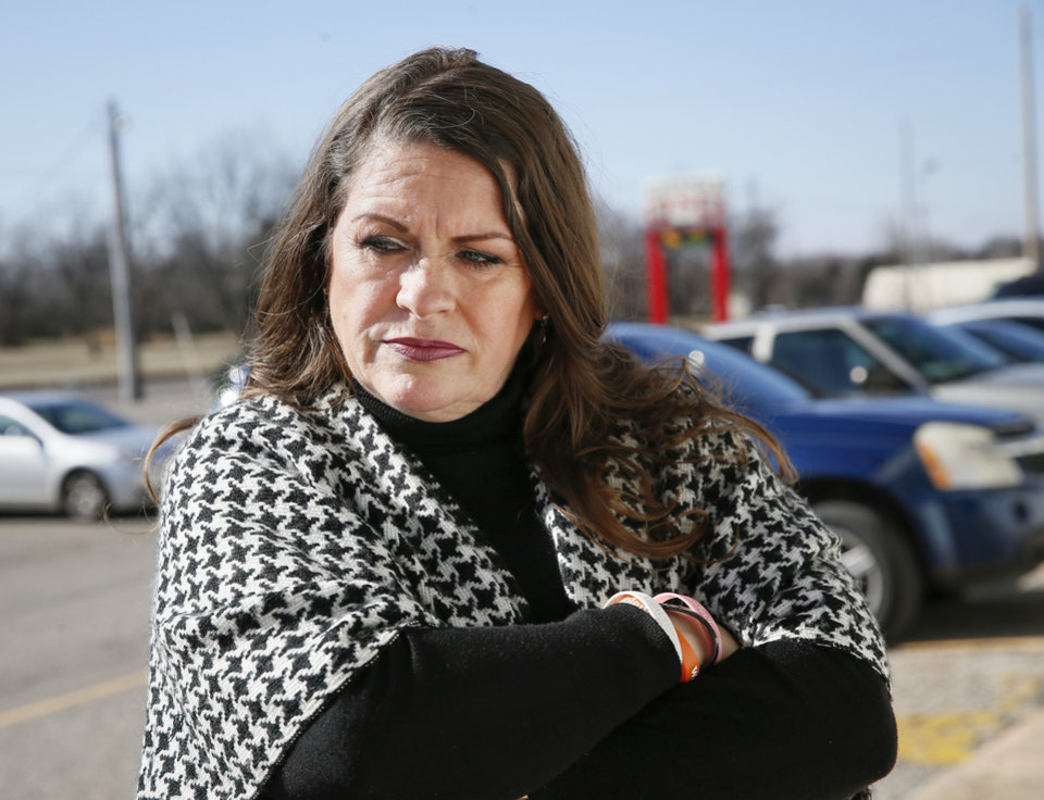 Photo - Sarah Burdine talks about her son, Jean-Ciar Pierce, near where he was killed in the 8400 block of NE 23 in Spencer, Okla., Friday, Jan. 24, 2020. [Nate Billings/The Oklahoman]