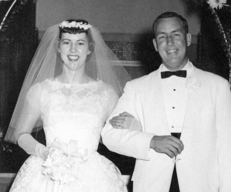 Photo -  60 years: Yvonne and Charles Hunnicutt, of Oklahoma City, were married Aug. 8, 1959.