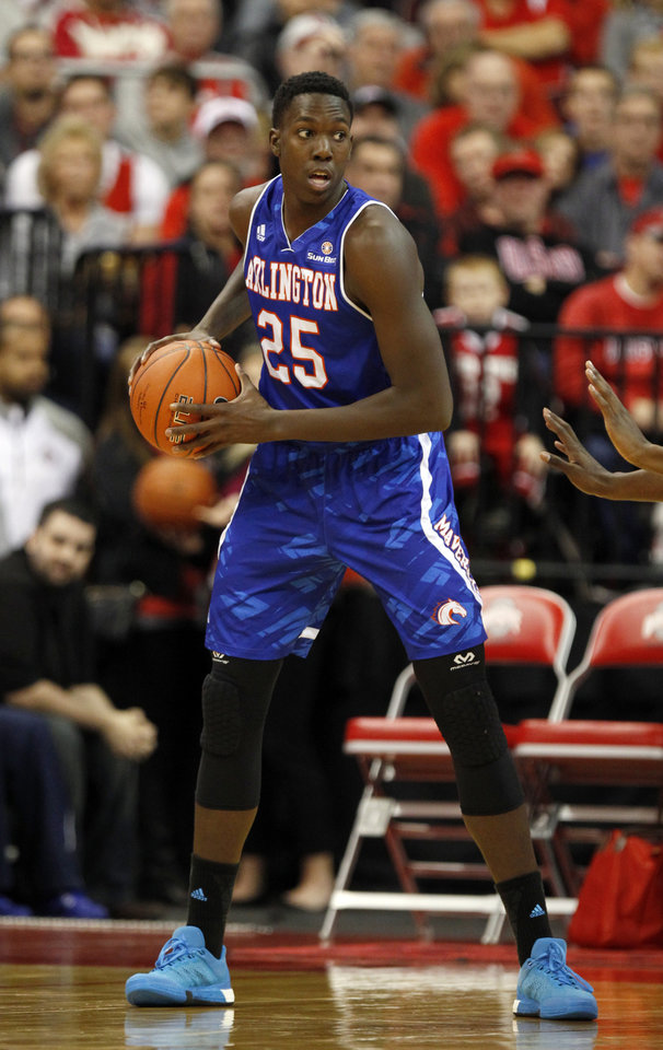 Photo -  Kevin Hervey, shown here playing for Texas-Arlington, might be a candidate to fill out Oklahoma City's frontcourt. He's 6-foot-9, 230 pounds and has a solid outside shooting stroke. [AP PHOTO]