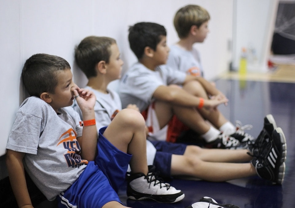 Photo - during the Kevin Durant basketball camp at Heritage Hall Wednesday, June 29, 2011.  Photo by Garett Fisbeck, The Oklahoman