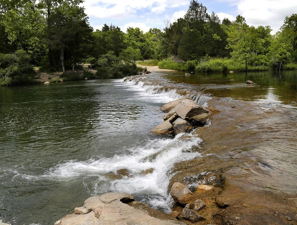 Photo - The Blue River near Tishomingo in Johnston County in seen in June 2018. [The Oklahoman Archives]