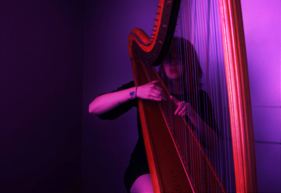 Photo -  Moriah Bailey Stephenson's solo project Sun Riah is a harp-led, personal music project. Her new record focuses on her relationship with her late grandparents. [Photo provided by Ariel Bridget Stephenson]