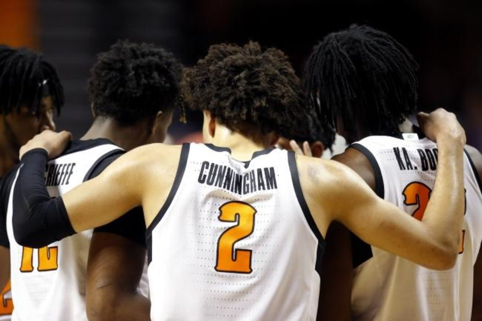 Photo -  Oklahoma State's Cade Cunningham is regarded as a rare point guard with his 6-foot-8, 220-pound frame. [Sarah Phipps/The Oklahoman]