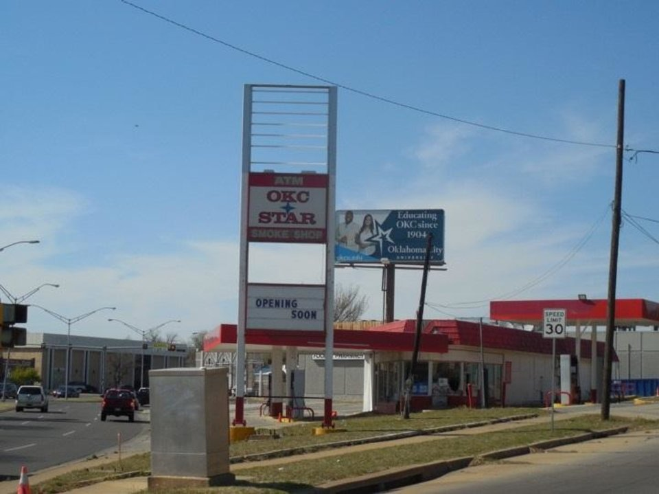 Photo - The Phillips 66 station at NW 17 and Classen.