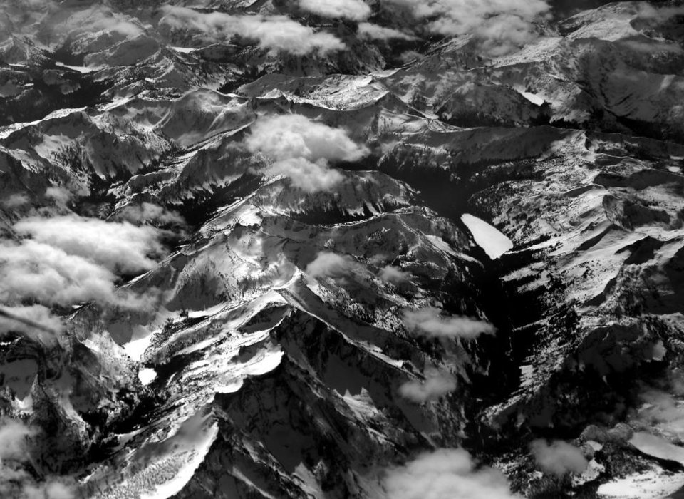 Photo -  Yellowstone National Park as seen through the air. Photo by Sarah Phipps, The Oklahoman