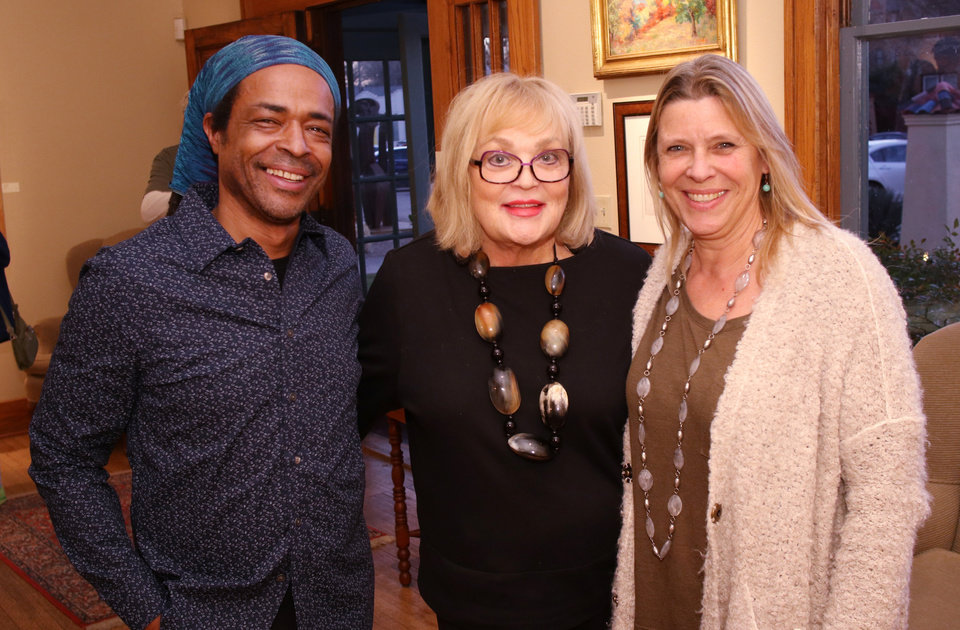 Photo - Skip Hill, Joy Reed Belt, Irmgard Geul. PHOTO BY DOUG HOKE, THE OKLAHOMAN