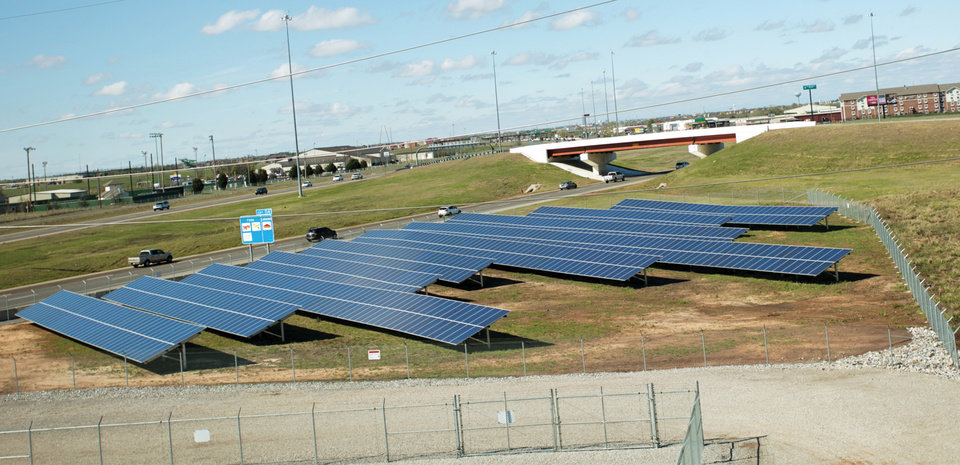 Photo -  A 250 kilowatt solar garden at Interstate 35 and Flood Avenue makes up part of Western Farmers Electric Cooperative's generation portfolio.