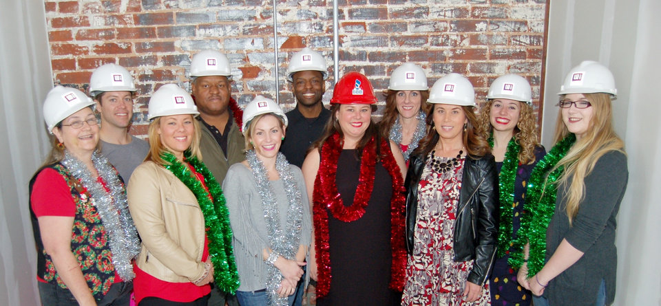 Photo - The BBB team during construction. They just returned to their newly renovated downtown location this month. Photo provided by BBB.