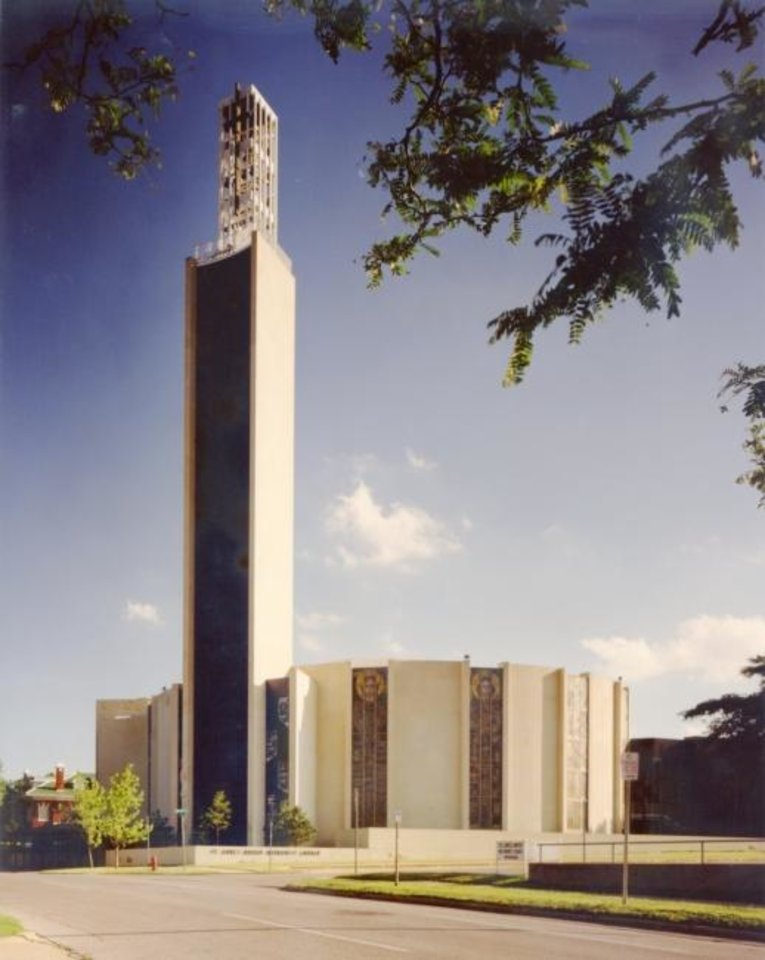 Photo -  Architecture Forum Magazine named what is now FSB to its list of the top 75 architecture firms in the United States in 1959 partly because of celebrated work such as St. Luke's Methodist Church, 222 NW 15, with its 150-foot carillon bell tower. [PHOTO PROVIDED BY FSB]