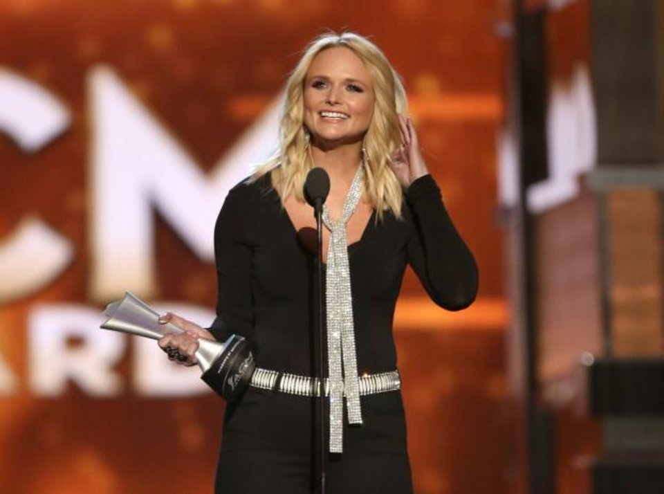 Miranda lambert wins female vocalist as chris stapleton for Academy of country music award for video of the year