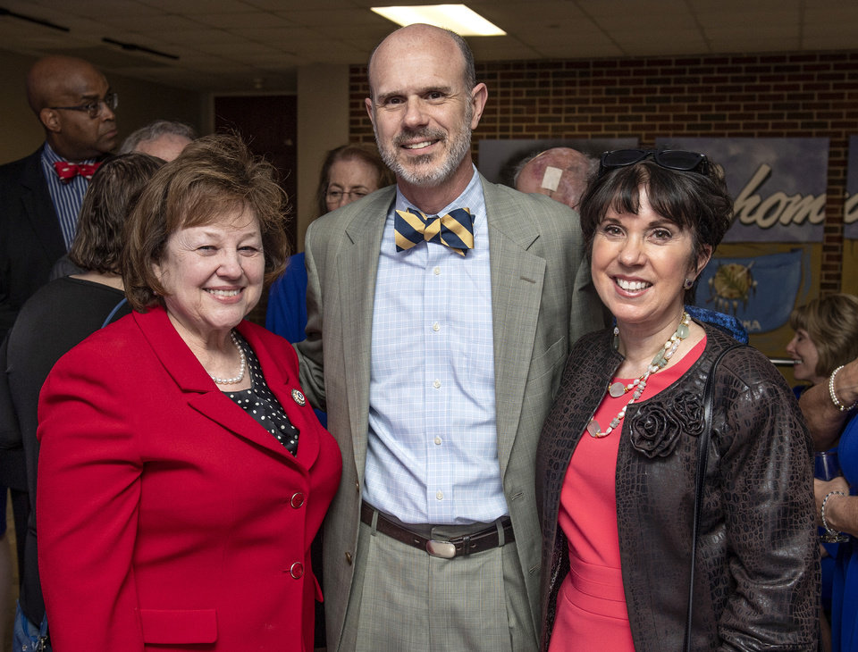 Photo - Peggy Kates, Daniel Adams, Mary Blankenship Pointer. UCO PHOTO SERVICES