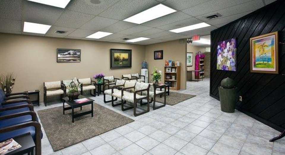 Photo -  The lobby of South Wind Women's Center in Wichita, Kan. [Photo provided]