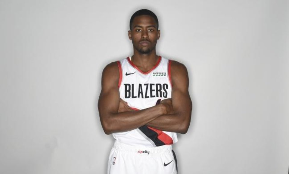 Photo -  Maurice Harkless of the Portland Trail Blazers poses for a photo during media day in Portland, Ore., Monday, Sept. 24, 2017. (AP Photo/Steve Dykes)