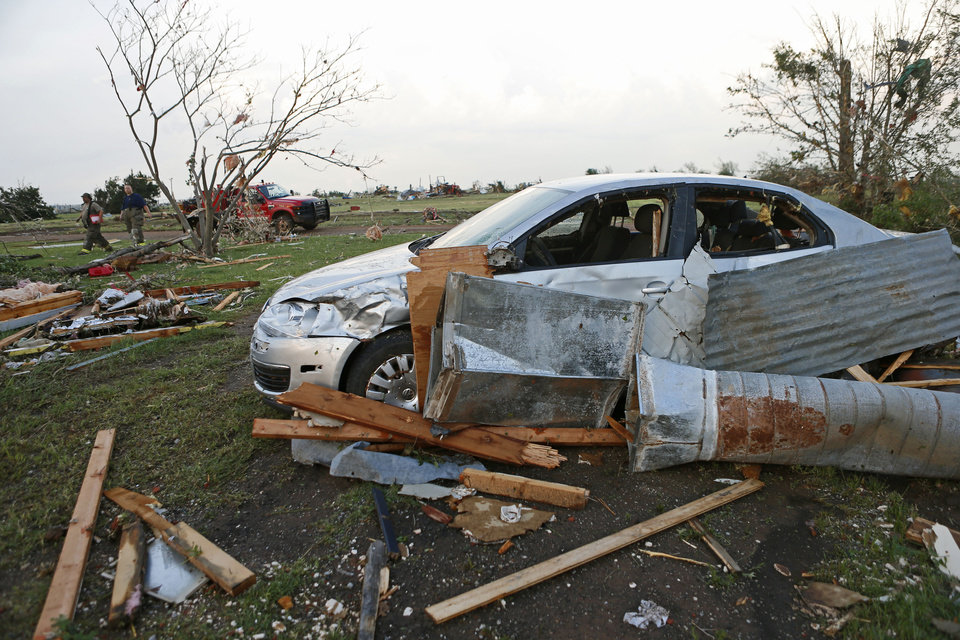 Photo - Tornado damage at the home of Marlena and Mark Hodson in Carney Okla., on Sunday, May 19, 2013. Photo by Bryan Terry, The Oklahoman