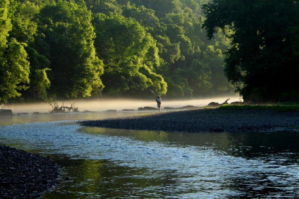 Lower illinois river a prime fishing spot news ok for Trout fishing oklahoma