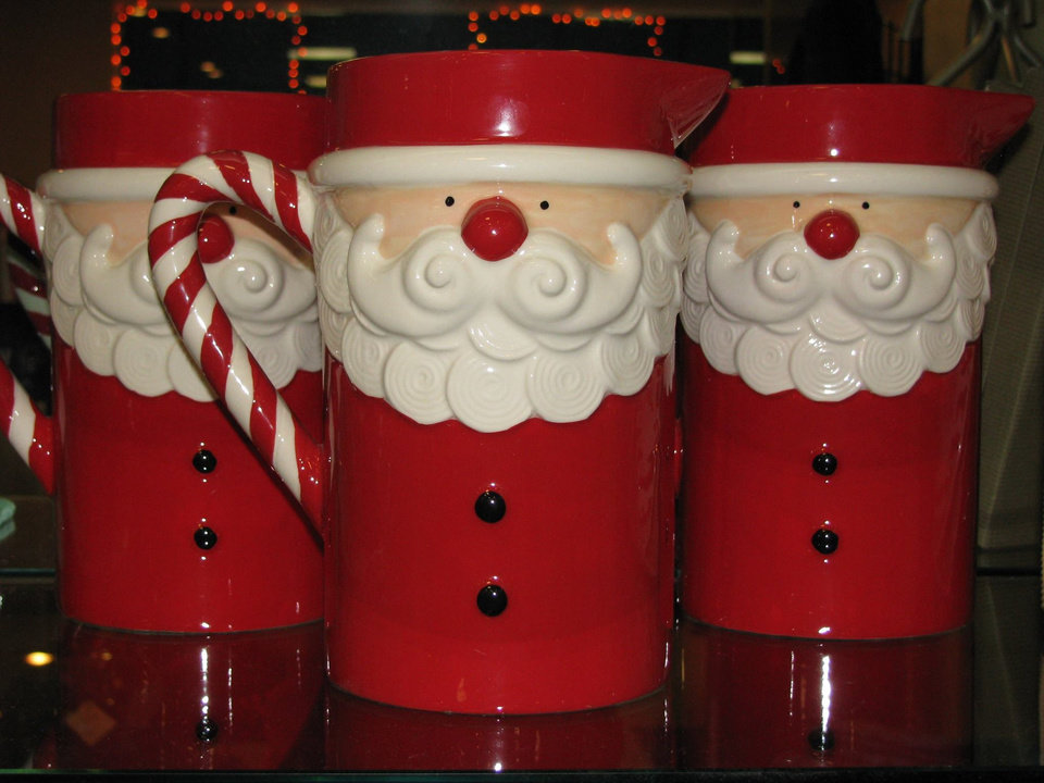 Photo - Need a little gift for a friend. Check out these cute Santa mugs - seen at Nancy's.