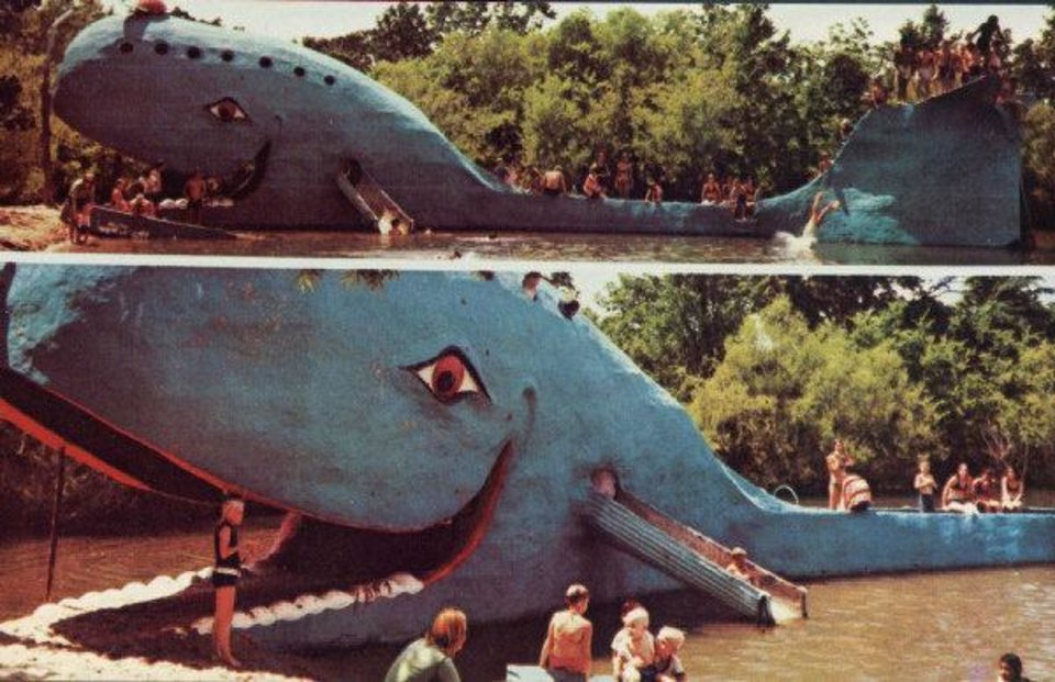 Photo - Postcard of the Blue Whale in Catoosa. Photo Provided  Photo Provided
