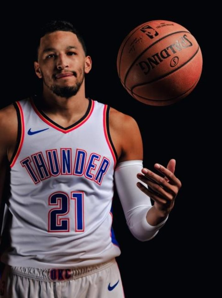 Photo -  Andre Roberson missed the entire Thunder season with an injury. Roberson said he learned a lot about the NBA game while he has been sidelined. [Chris Landsberger/The Oklahoman]