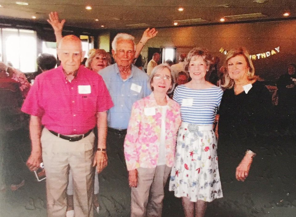 Photo - Dale Anderson, Lynda Henderson Vincent, Bill McAlister, Emily Fowler Omura, Linda Lee Crocker, Donna Ensign Marshall. PHOTO PROVIDED