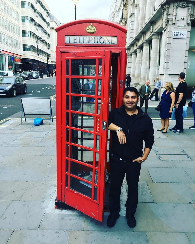 Photo -  Entrepreneur Fred Khalilian is seen on a recent trip to England. The Iowa Tribe is attempting to obtain a gaming license in the Isle of Man. [Photo provided]