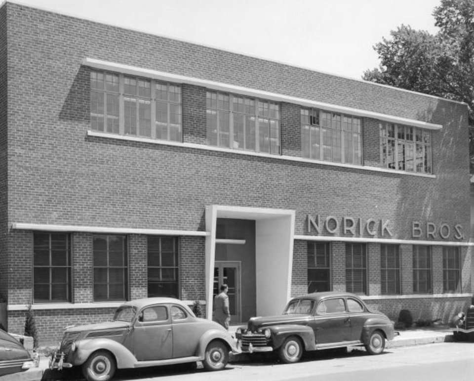 Photo -  Early clients of what is now FSB included Norick Bros, printers, who hired the firm to design a new plant, shown at 3909 NW 36, in the 1950s. [PHOTO PROVIDED BY FSB]