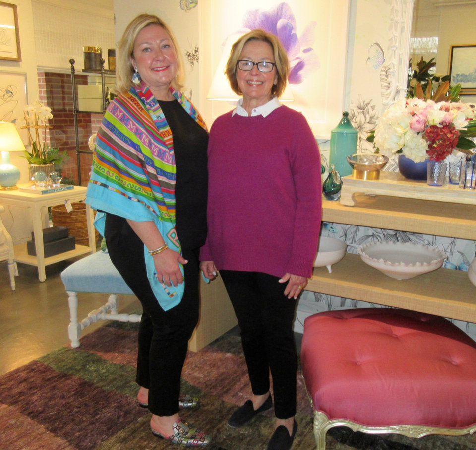 Photo -  Open house   Fanny Bolen and Bebe MacKellar were hostesses at their new Fanny Bolen Interiors location, 2761 W Country Club Drive. They invited friends to come by for appetizers and cocktails and to check out their new digs. Bruce MacKellar was bartender. [PHOTO BY HELEN FORD WALLACE, THE OKLAHOMAN]