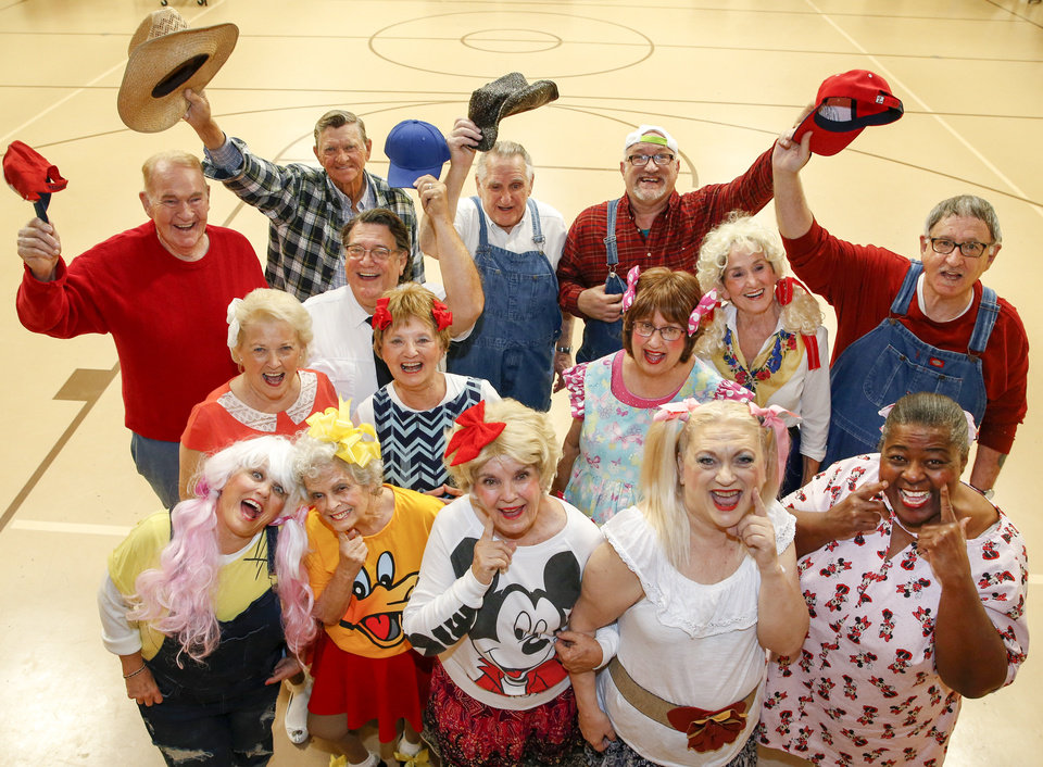 Photo -  Members of the Oklahoma Seniors Cabaret pose for a photo during rehearsal at Messiah Lutheran Church on Monday in Oklahoma City. [Photo by Nate Billings, The Oklahoman]