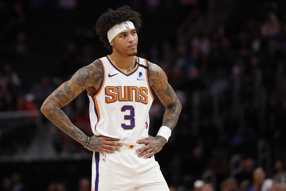 Photo - Feb 5, 2020; Detroit, Michigan, USA; Phoenix Suns forward Kelly Oubre Jr. (3) reacts during the second half against the Detroit Pistons at Little Caesars Arena. Mandatory Credit: Rick Osentoski-USA TODAY Sports