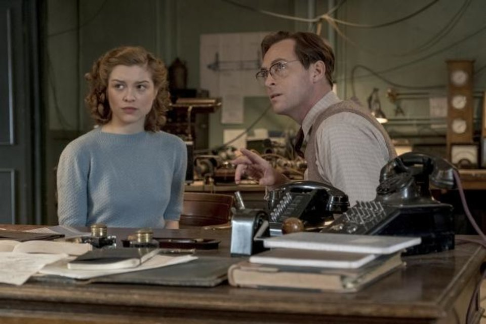 Photo -  Sophie Cookson, left, and Stephen Campbell Moore star in