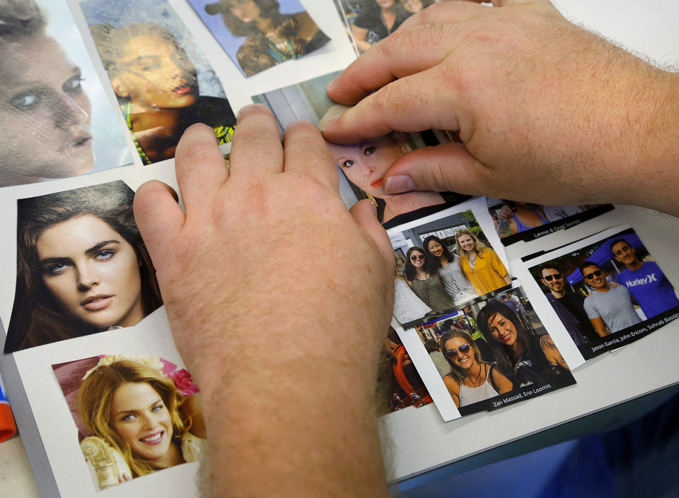 Photo -  A work of art by a participant in the fresh stART art program at The Homeless Alliance day shelter in Oklahoma City. Program participants are grieving the loss of Derek Prophet, an art class regular shot and killed by police May 25. [Photos by Jim Beckel, The Oklahoman]