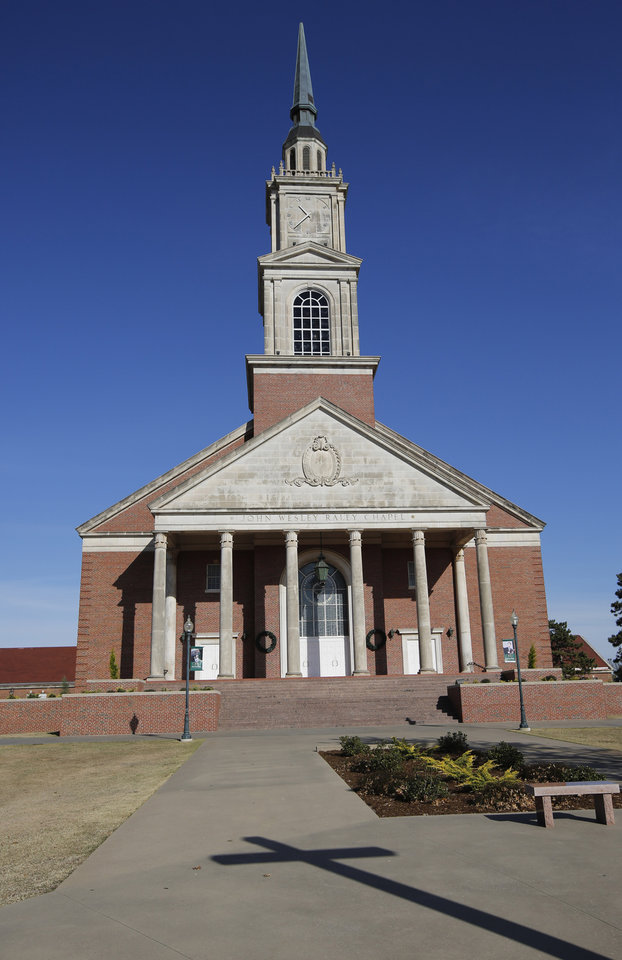 Photo -  John Wesley Raley chapel is shown here on the campus of Oklahoma Baptist University in Shawnee. [Photo by Steve Gooch, The Oklahoman]