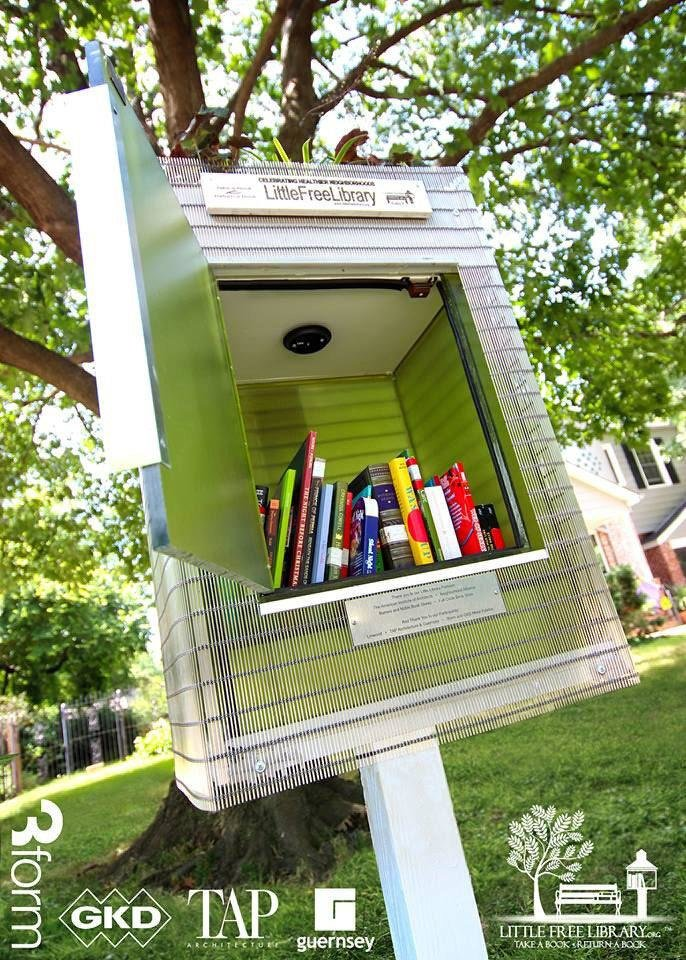 Photo - TAP Architecture and Guernsey designed and built the Little Free Library at 3128 NW 20 in the Linwood neighborhood.   - PROVIDED BY AIA CENTRAL OKLAHOMA