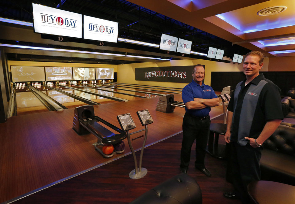 Photo -  Brad Little and Trey Bates, owners of HeyDay Entertainment, are set to open a second location in Lower Bricktown. [Photo by Steve Sisney, The Oklahoman]