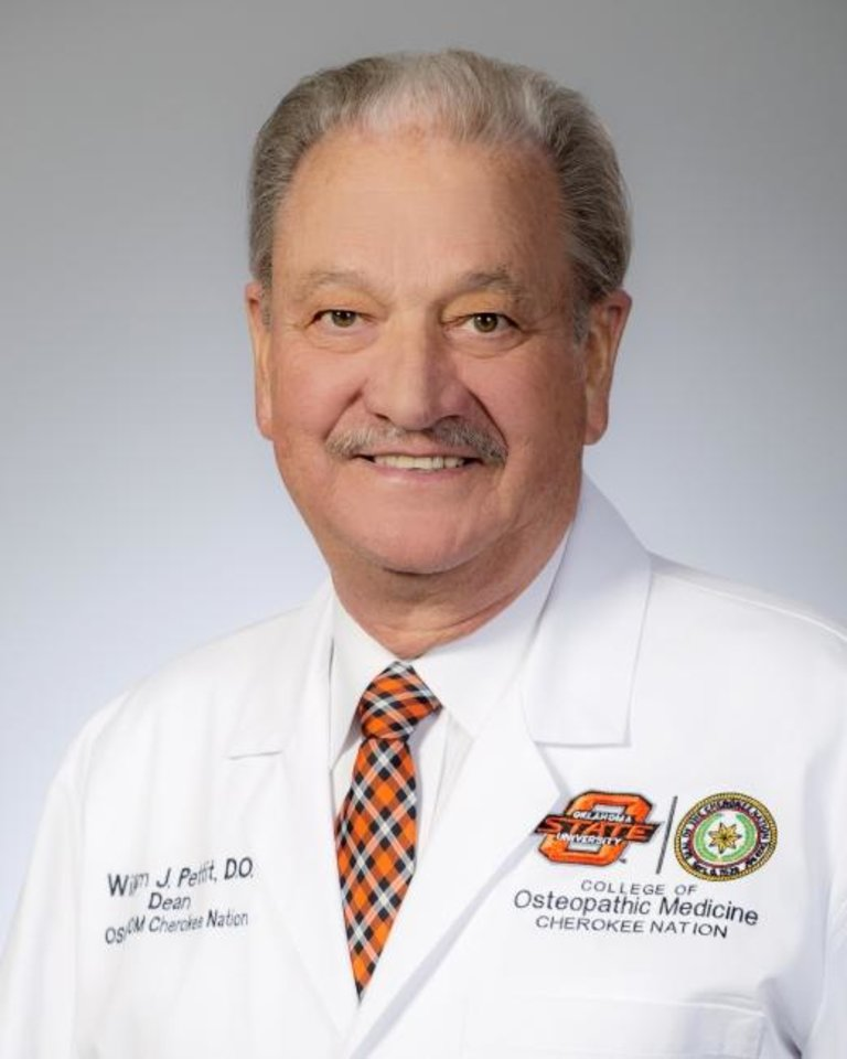 Photo -  Dr. William J. Pettit has been named the inaugural dean of the OSU College of Osteopathic Medicine at the Cherokee Nation site in Tahlequah. [Photo Provided]