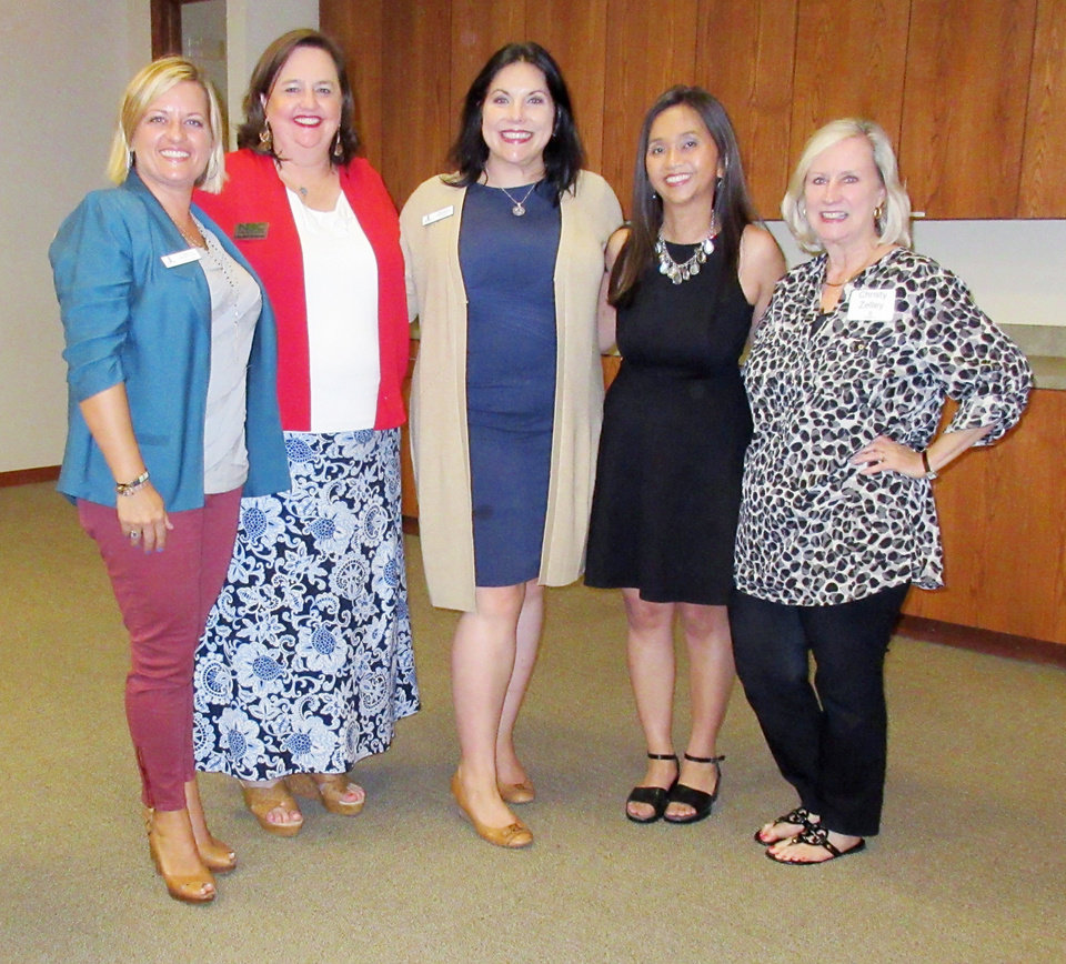 Photo - Sabrina Froehlich, Lillie-Beth Brinkman, Tracey Frederick, Mei Cheng, Christy Zelley. PHOTO BY HELEN FORD WALLACE