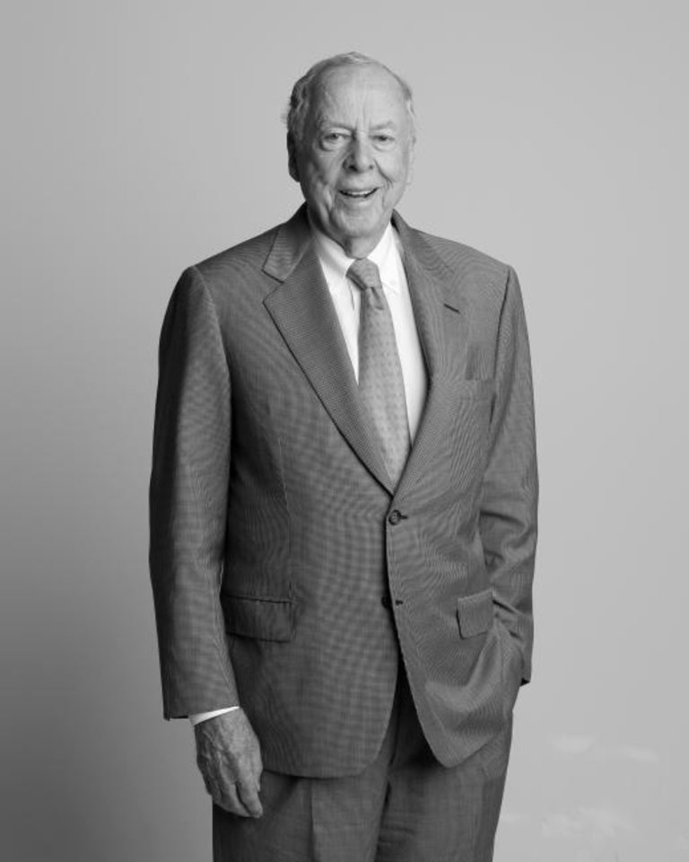 Photo -  T. Boone Pickens, oilman and OSU benefactor, in 2015. [Doug Hoke, The Oklahoman]